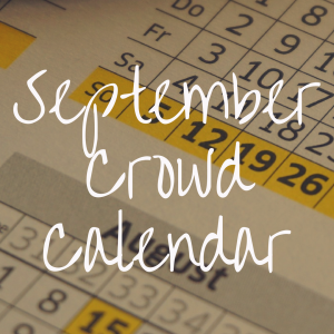 Disney World Crowd Calendar for September