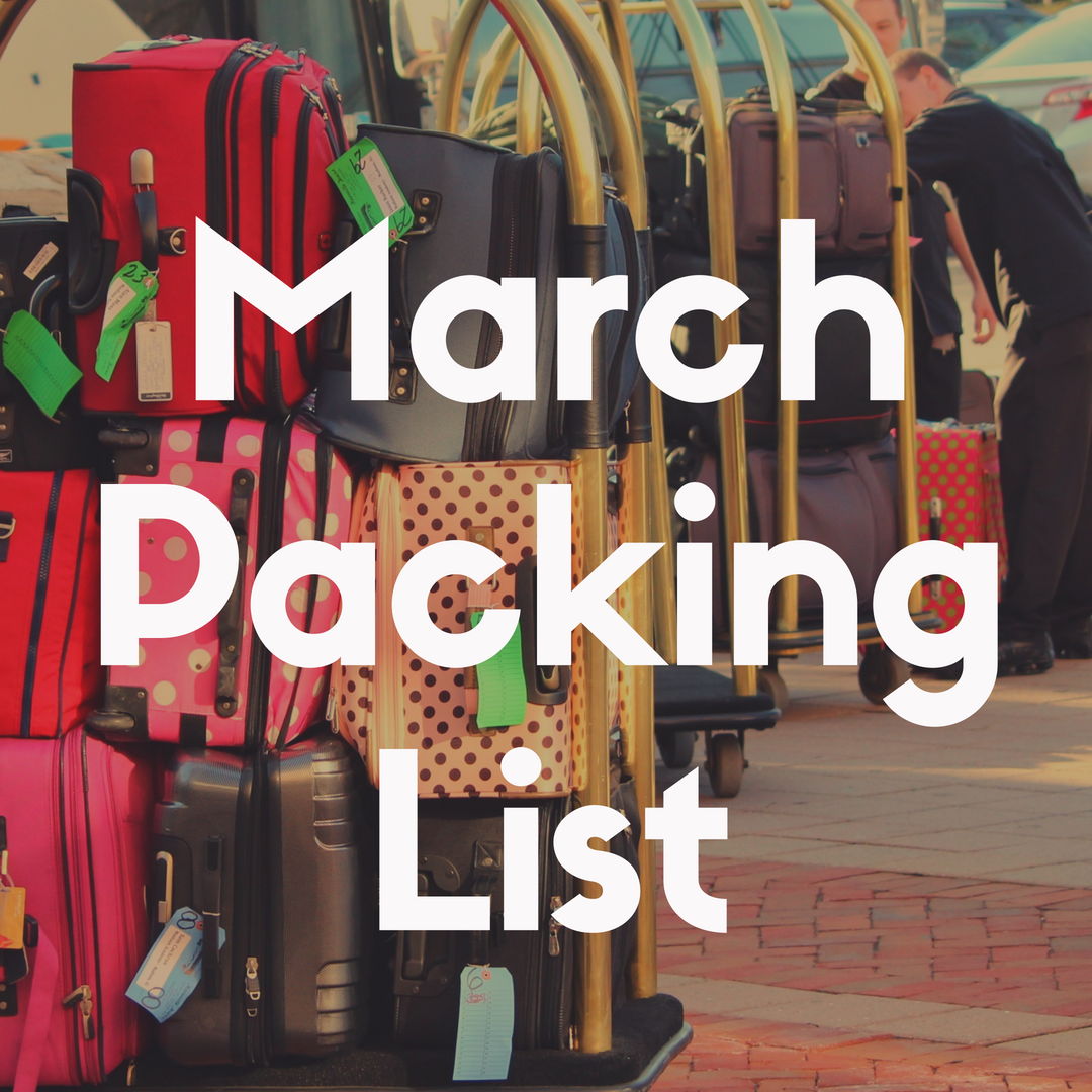 Disney World Packing List for March