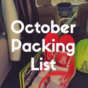Disney World Packing List for October