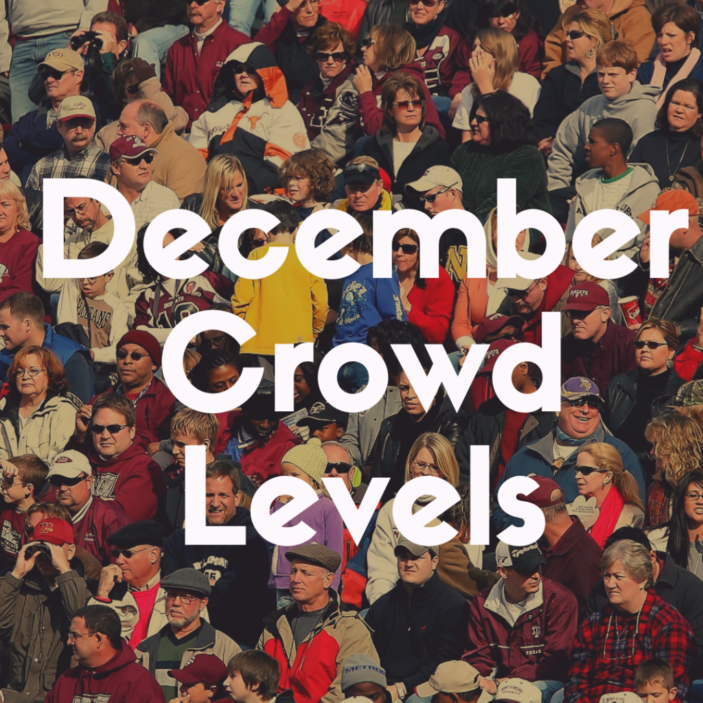 Crowd Predictor for Disney World in December?  Discover the estimated crowd levels today!