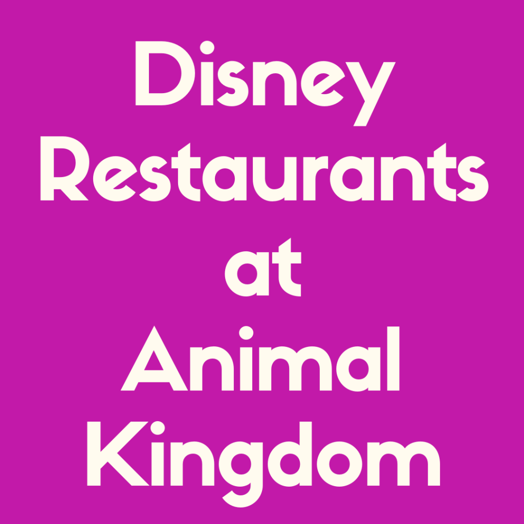 Learn about the Best Disney World restaurants at Animal Kingdom