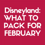 Discover what to pack for Disneyland in February!