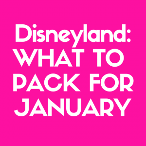 Curious What to Pack for Disneyland in January? Then read our article to better help you get prepared.