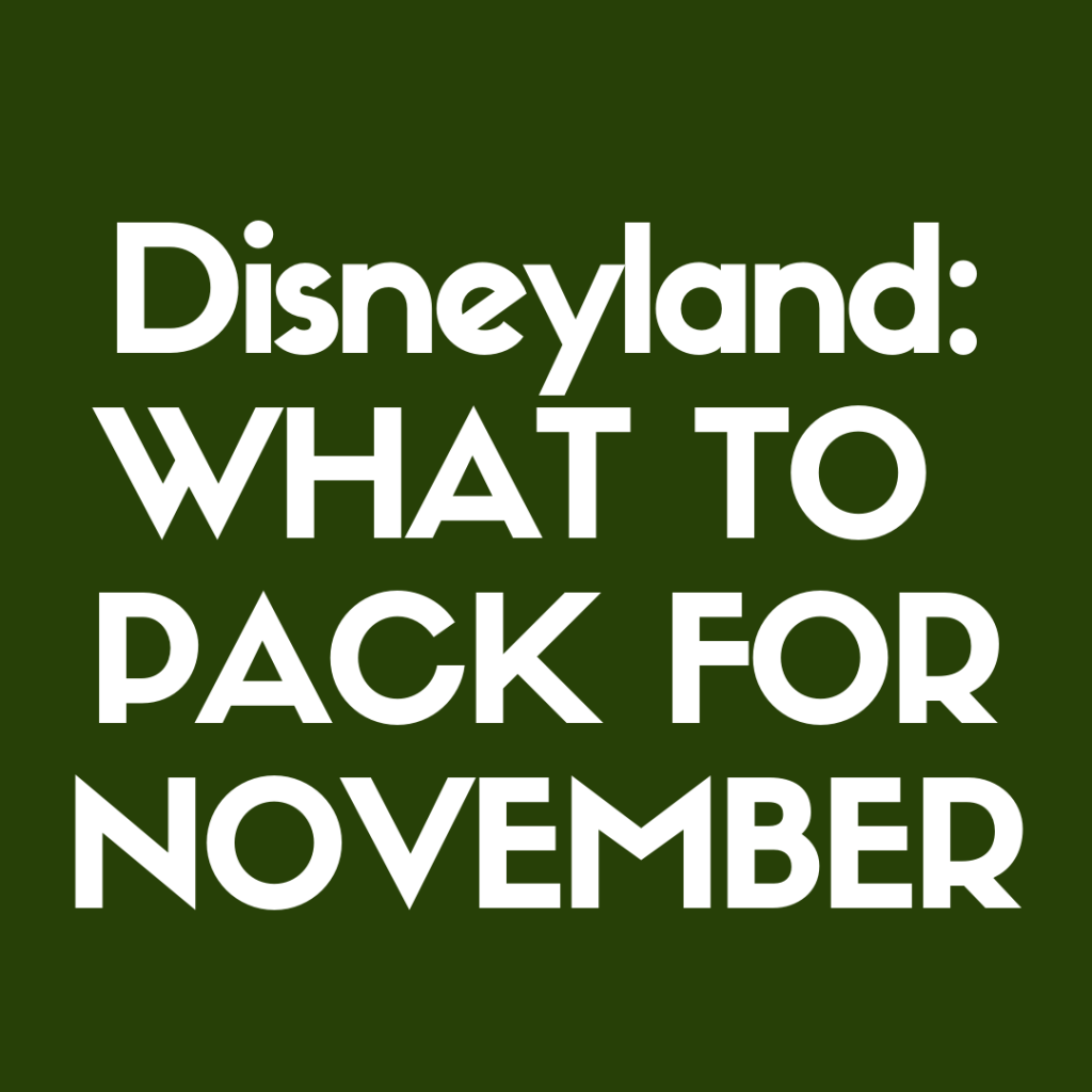 Discover what to pack for Disneyland in November!