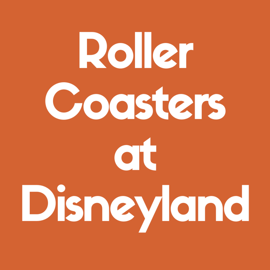 Discover the Best Roller Coasters at Disneyland