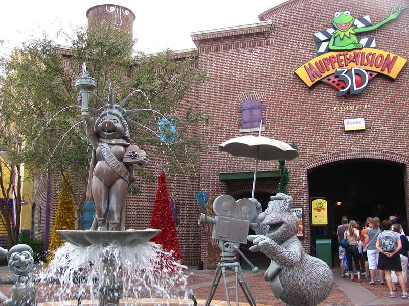The exterior of the Muppet Vision 3D attraction